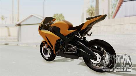 Honda CBR1000RR High Modif für GTA San Andreas linke Ansicht