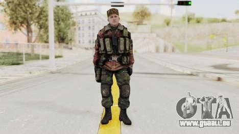 Battery Online Russian Soldier 10 v1 pour GTA San Andreas deuxième écran