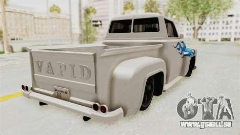 GTA 5 Slamvan Stock PJ1 pour GTA San Andreas laissé vue