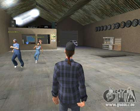 L'intérieur de la STO San Fierro v2.0 pour GTA San Andreas troisième écran