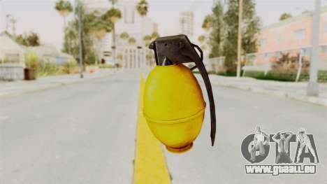 Grenade Gold pour GTA San Andreas deuxième écran