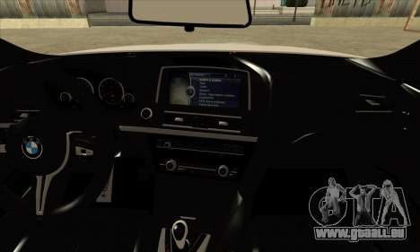 BMW M6 F13 Coupe für GTA San Andreas Rückansicht