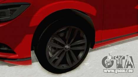 Volkswagen Passat B8 2016 Highline HQLM pour GTA San Andreas vue arrière