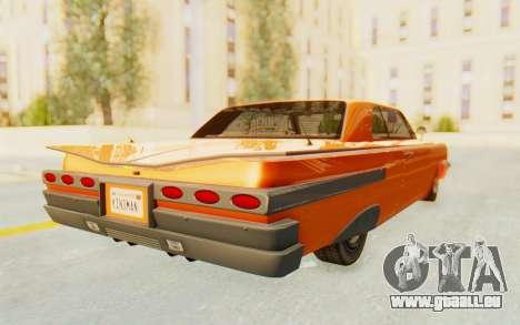 GTA 5 Declasse Voodoo Alternative v1 PJ pour GTA San Andreas sur la vue arrière gauche