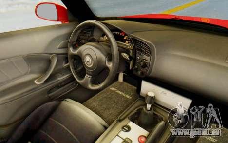Honda S2000 pour GTA San Andreas vue intérieure