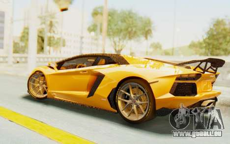 Lamborghini Aventador LP700-4 DMC für GTA San Andreas zurück linke Ansicht