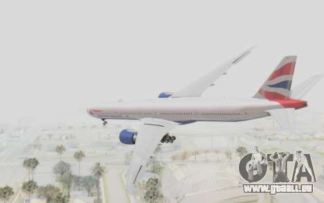 Boeing 777-300ER British Airways für GTA San Andreas linke Ansicht