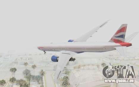 Boeing 777-300ER British Airways für GTA San Andreas linke Ansicht