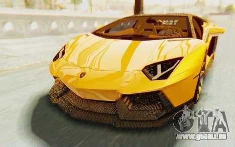 Lamborghini Aventador LP700-4 DMC pour GTA San Andreas vue de côté