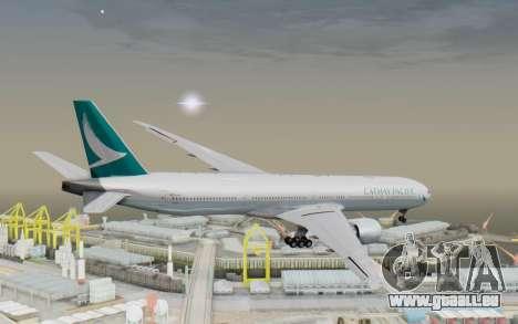 Boeing 777-300ER Cathay Pacific Airways v3 pour GTA San Andreas vue de droite