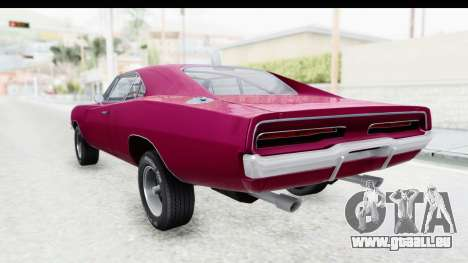 Dodge Charger 1969 Racing pour GTA San Andreas laissé vue