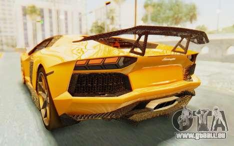 Lamborghini Aventador LP700-4 DMC pour GTA San Andreas salon