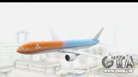 Boeing 777-300ER KLM Orange Pride pour GTA San Andreas sur la vue arrière gauche