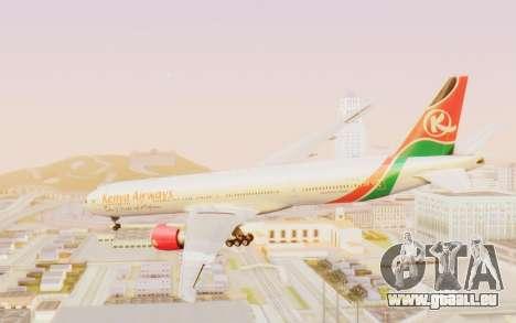 Boeing 777-300ER Kenya Airways für GTA San Andreas rechten Ansicht