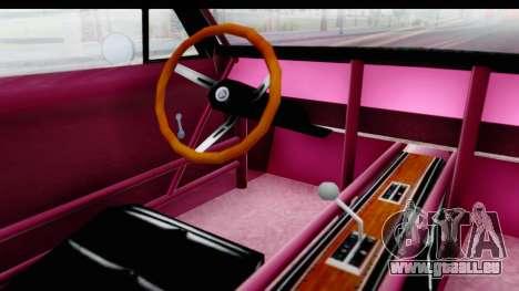 Dodge Charger 1969 Racing pour GTA San Andreas vue intérieure
