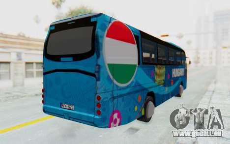 Neoplan Euro 2016 Hungarian Bus für GTA San Andreas zurück linke Ansicht