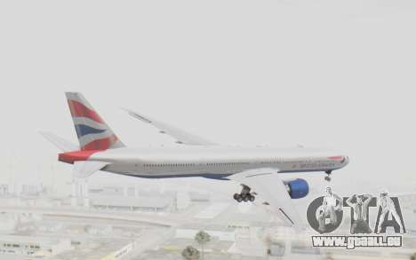 Boeing 777-300ER British Airways für GTA San Andreas rechten Ansicht