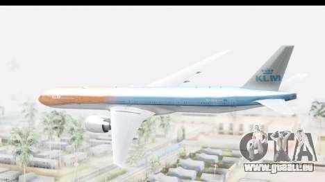 Boeing 777-300ER KLM Orange Pride für GTA San Andreas rechten Ansicht
