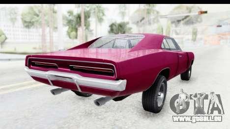 Dodge Charger 1969 Racing pour GTA San Andreas vue de droite