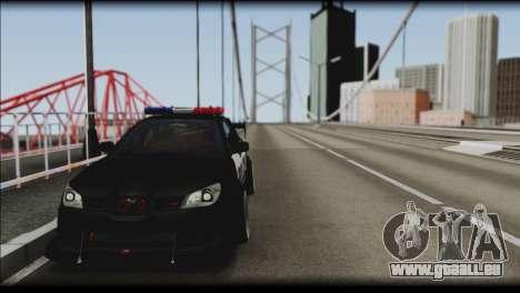 Subaru Impreza WRX STi Police Drift für GTA San Andreas zurück linke Ansicht