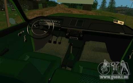 IZH-412 Kombi für GTA San Andreas Innenansicht