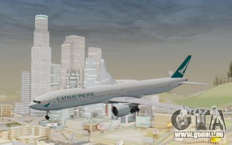 Boeing 777-300ER Cathay Pacific Airways v3 pour GTA San Andreas