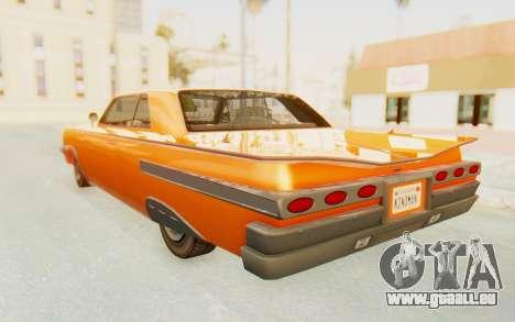 GTA 5 Declasse Voodoo Alternative v1 PJ pour GTA San Andreas laissé vue