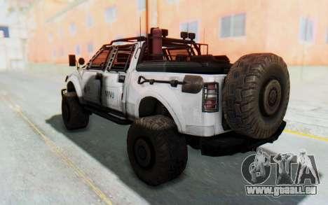 Toyota Hilux Technical MNU für GTA San Andreas zurück linke Ansicht