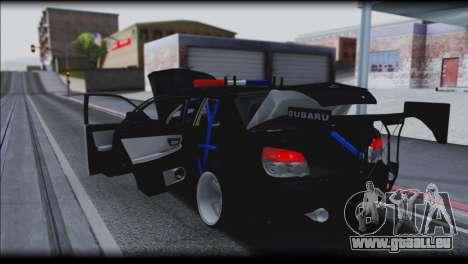 Subaru Impreza WRX STi Police Drift für GTA San Andreas Seitenansicht