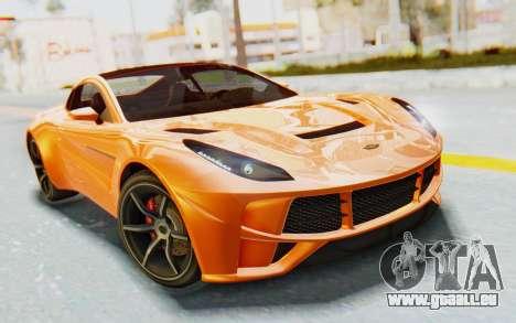 GTA 5 Dewbauchee Seven 70 IVF pour GTA San Andreas vue arrière