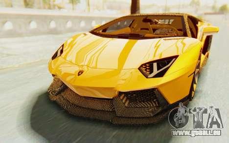 Lamborghini Aventador LP700-4 DMC pour GTA San Andreas vue de dessus
