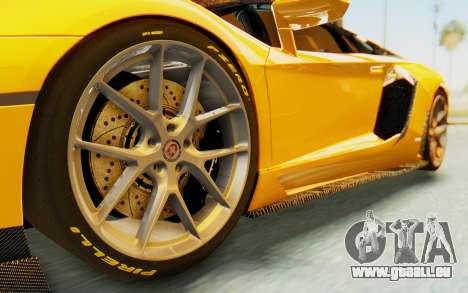 Lamborghini Aventador LP700-4 DMC pour GTA San Andreas vue arrière