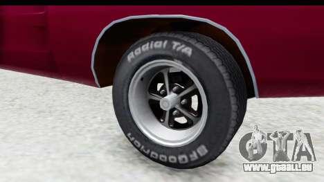 Dodge Charger 1969 Racing pour GTA San Andreas vue arrière