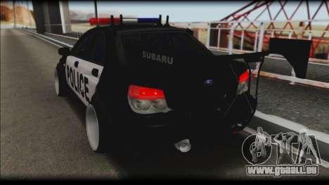 Subaru Impreza WRX STi Police Drift für GTA San Andreas linke Ansicht
