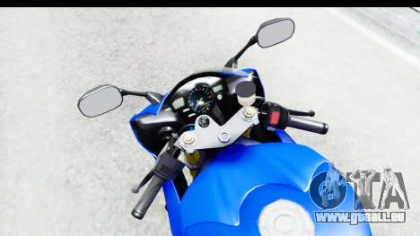 Yamaha YZF-R6 2006 with 2015 Livery pour GTA San Andreas vue intérieure