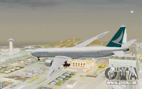 Boeing 777-300ER Cathay Pacific Airways v3 pour GTA San Andreas laissé vue