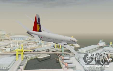 Boeing 777-300ER Philippine Airlines für GTA San Andreas linke Ansicht