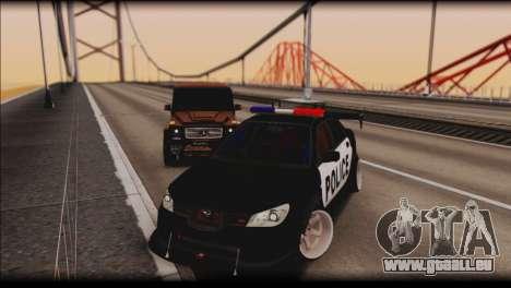 Subaru Impreza WRX STi Police Drift für GTA San Andreas Rückansicht