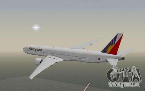 Boeing 777-300ER Philippine Airlines pour GTA San Andreas vue de droite