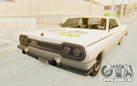 GTA 5 Declasse Voodoo Alternative v1 PJ pour GTA San Andreas vue de côté
