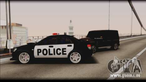 Subaru Impreza WRX STi Police Drift für GTA San Andreas Unteransicht