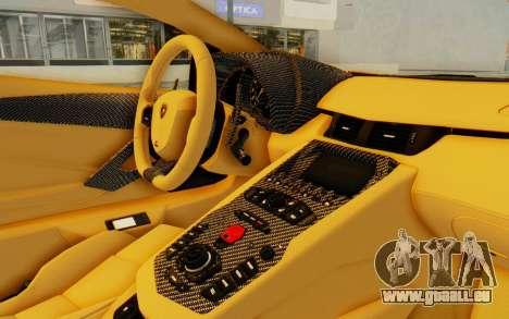 Lamborghini Aventador LP700-4 DMC pour GTA San Andreas vue intérieure