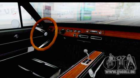 Dodge Charger 1969 Max Speed für GTA San Andreas Innenansicht