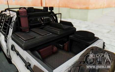 Toyota Hilux Technical MNU für GTA San Andreas Rückansicht