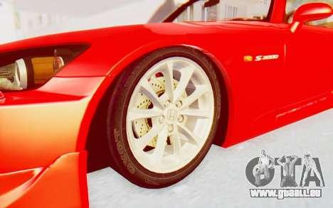 Honda S2000 pour GTA San Andreas vue arrière