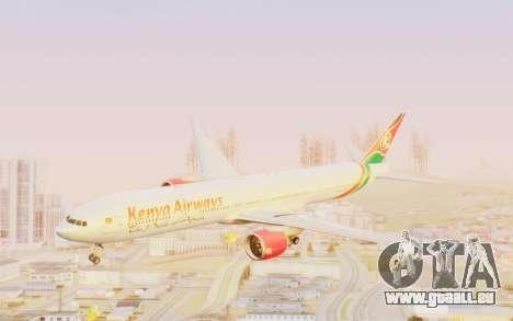 Boeing 777-300ER Kenya Airways für GTA San Andreas zurück linke Ansicht