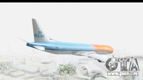 Boeing 777-300ER KLM Orange Pride für GTA San Andreas linke Ansicht