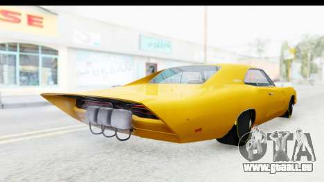 Dodge Charger 1969 Max Speed für GTA San Andreas zurück linke Ansicht