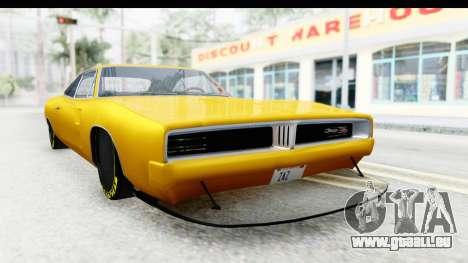 Dodge Charger 1969 Max Speed für GTA San Andreas rechten Ansicht