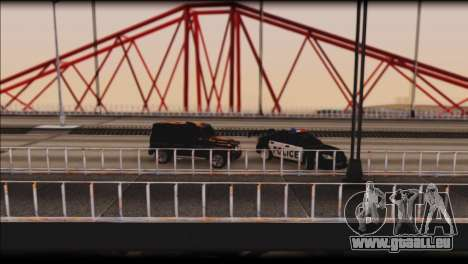 Subaru Impreza WRX STi Police Drift für GTA San Andreas obere Ansicht